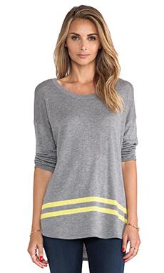 C&C California Intarsia Sweater in Heather Grey