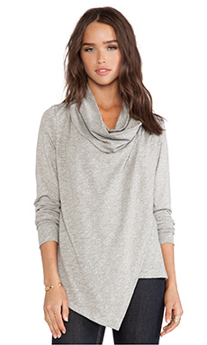 C&C California Wrap Cardigan in Heather Grey