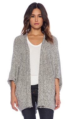 C&C California Tweed Drape Cardigan in Heather Grey