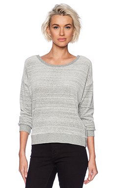 C&C California Streaky Chenile Sweater in Heather Grey