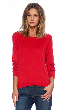 C&C California Cashmere Blend Sweater in True Red