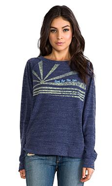 C&C California Live for the Sun Sweatshirt in Denim Blue