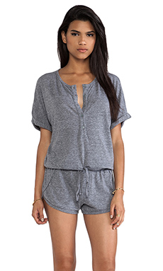 C&C California Romper in Heather Grey
