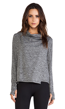 C&C California Shape Wrap Jacket in Charcoal Heather