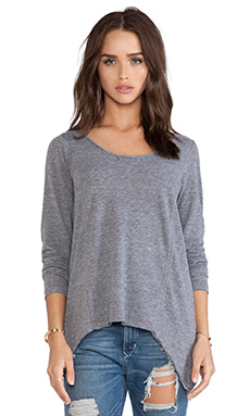 C&C California Drape Top in Heather Grey