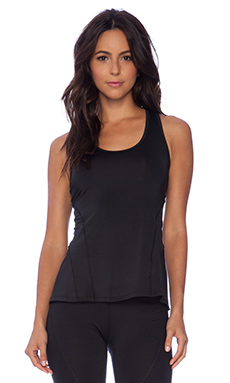 C&C California Pleated Back Exceed Tank in Caviar