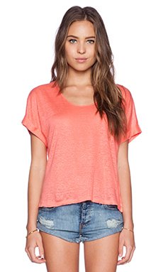C&C California Short Sleeve Crop Tee in Faded Glare