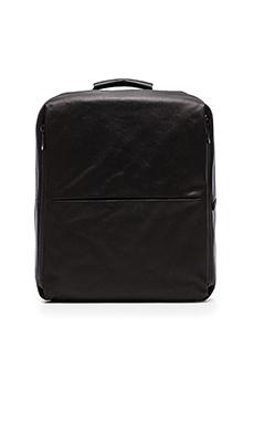Cote & Ciel Rhine Flat Backpack in Coated Canvas Black