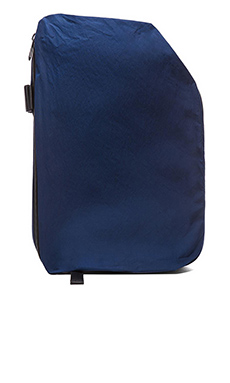 Cote & Ciel Isar Rucksack Twin Touch Memory in Black Ecoya & Midnight Blue
