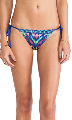 Cecilia Prado Tropicalia Tie Side Bikini Bottoms in Blue Print