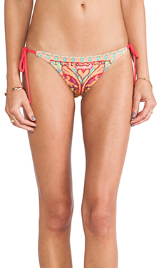 Cecilia Prado Tropicalia Tie Side Bikini Bottoms in Pink Multi