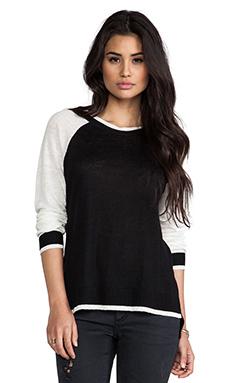 Central Park West Zanzibar Athletic Sweater in Black Multi