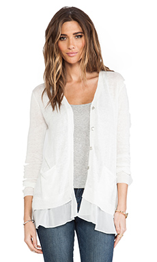 Central Park West St. Petersburg Cardigan in White