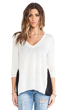 Central Park West St. Petersburg Pullover in White & Black
