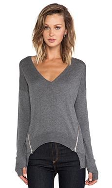 Central Park West Syracuse Color Block Sweater in Grey