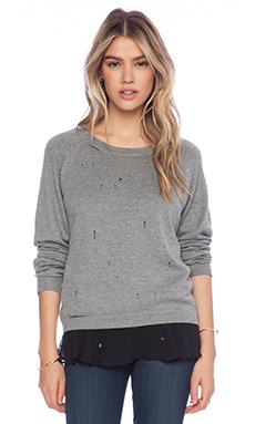 Central Park West Governors Island Sweater in Grey