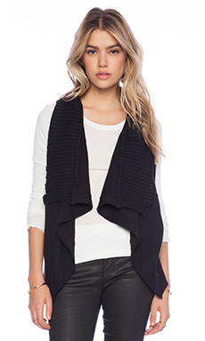 Central Park West Gansevoort Sleeveless Cardigan in Black
