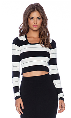 Central Park West Noho Crop Sweater in Stripe