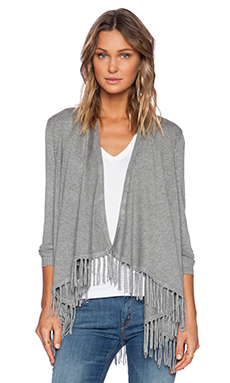 Central Park West Flat Iron Cardigan in Heather Grey
