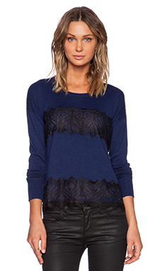 Central Park West Vinegar Hill Sweater in Navy