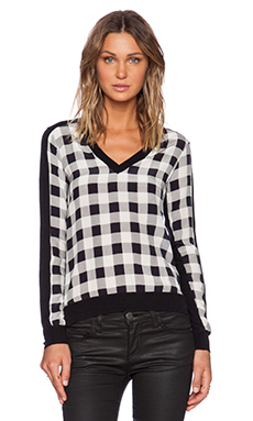 Central Park West Boerum Hill Sweater in Black/White