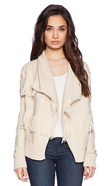 Central Park West Hamilton Cardigan in Sand