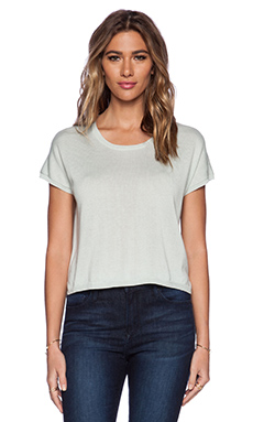 Central Park West Charleston Short Sleeve Dolman Sweater in Mint