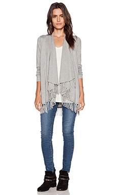 Central Park West Raleigh Cardigan in Heather Grey