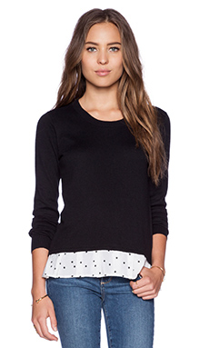 Central Park West Charlotte Pullover in Black Stars