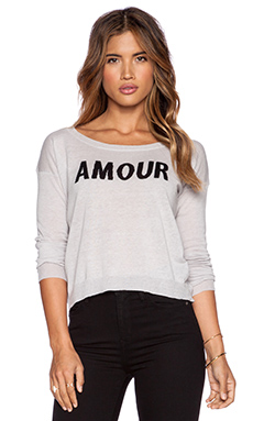 Central Park West Mesa Amour Sweater in Light Grey