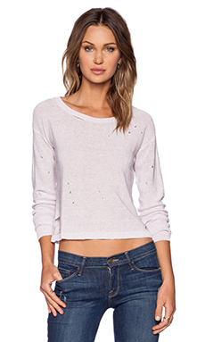 Central Park West Austin Cropped Sweater in Powder Puff