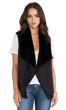 Central Park West Jamestown Vest in Black