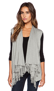 Central Park West Fringe Vest in Heather