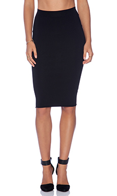 Central Park West Noho Pencil Skirt in Black