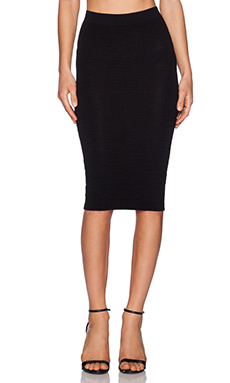 Central Park West Fresno Pencil Skirt in Black