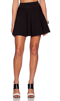 Central Park West Skater Skirt in Black