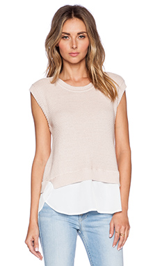 Central Park West Columbus Tank Top in Blush