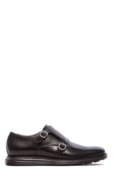 Cole Haan Lunargrand Double Monk in Black