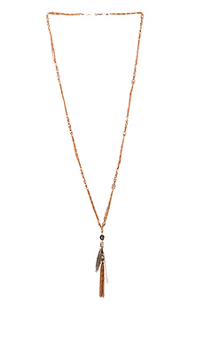 CHAN LUU Metal Drop Necklace in Rose Gold Mix
