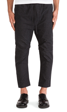 CHAPTER Baron Elastic Slouch Pant in Charcoal Spec