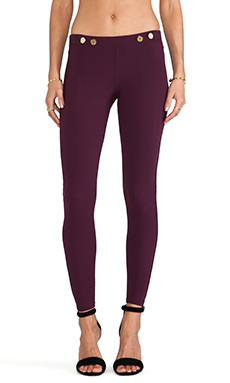 Charlie by Matthew Zink Hipster Pants in Black Cherry