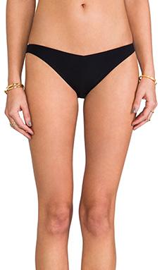 Charlie by Matthew Zink Allan V-Front Lowrise Bikini Bottom in Foil/Black