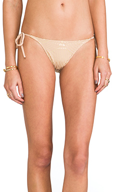 Charlie by Matthew Zink Charlie String Bikini Bottoms in Deco Foil