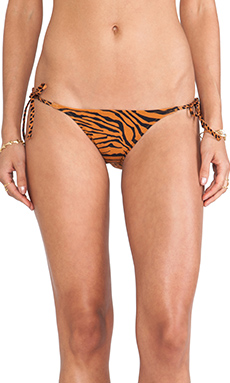 Charlie by Matthew Zink Charlie String Bikini Bottoms in Cheetah & Tiger
