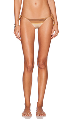 Charlie by Matthew Zink Charlie String Bikini Bottom in Oak Scarf