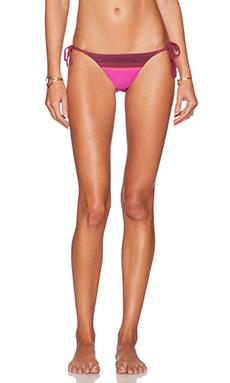 Charlie by Matthew Zink Charlie String Bikini Bottom in Berry Scarf