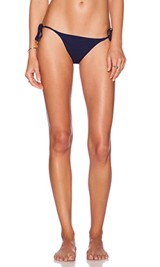 Charlie by Matthew Zink Grecian Coin String Bikini Bottom in Navy
