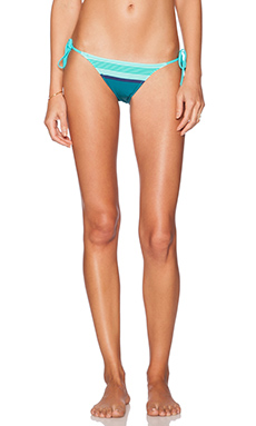 Charlie by Matthew Zink Charlie String Bikini Bottom in Aqua Scarf