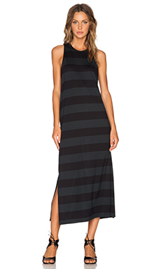 Cheap Monday Optimism Stripe Ring Dress in Black & Used Black