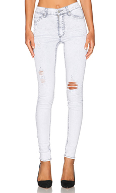 Cheap Monday Second Skin Skinny in Destruction Grey
